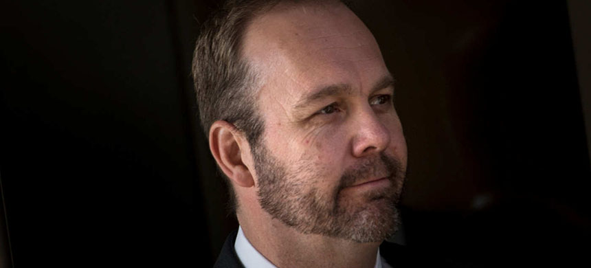 Former Trump campaign official Rick Gates. (photo: Brendan Smialowski/AFP/Getty Images)