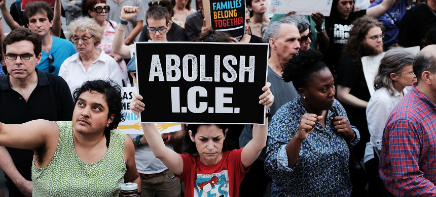 Immigrant rights advocates participate in rally against the ICE on June 1st, 2018, in New York City. (photo: Spencer Platt/Getty)