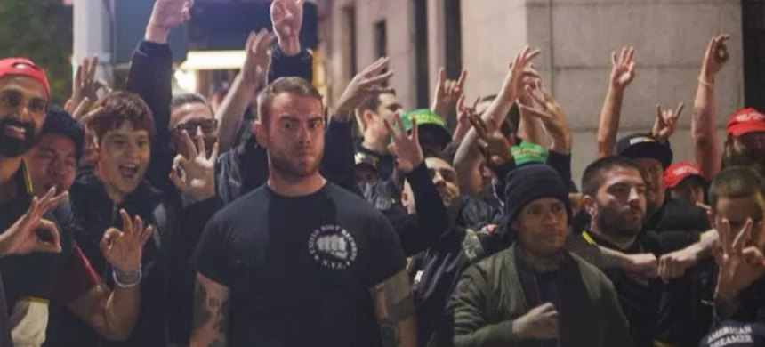 The Proud Boys in New York City. (photo: Shay Horse/Twitter)