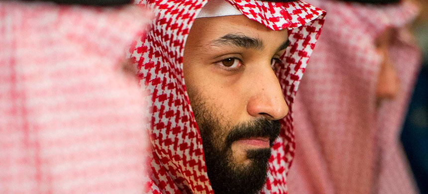 Saudi Crown Prince Mohammed bin Salman is pictured during a visit to the Pentagon on March 22, 2018. (photo: Cliff Owen/AP)
