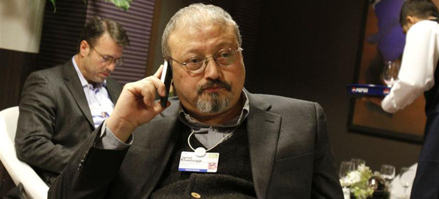 Turkish police are believed to have a voice recording of Khashoggi's murder. (photo: Virginia Mayo/AP)