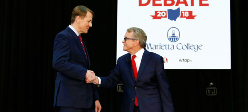 Ohio Democrat Richard Cordray and Republican Mike DeWine are among the candidates in crazy-close governor's races this year. (photo: Paul Vernon/AP/REX/Shutterstock)