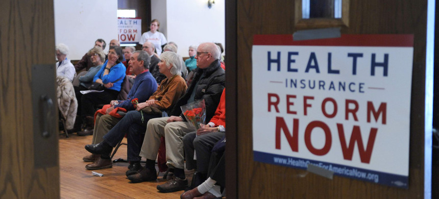 People attending a healthcare rally in Maryland. (photo: Tim Sloan/Getty)