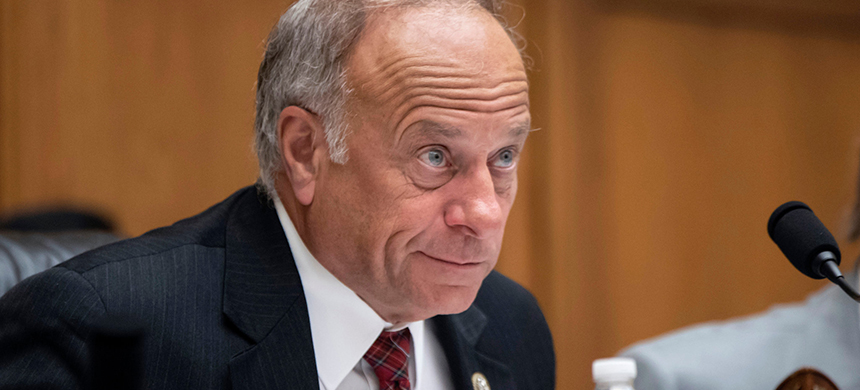 Representative Steve King, Republican of Iowa, at a hearing on Capitol Hill. (photo: Scott Applewhite/AP)