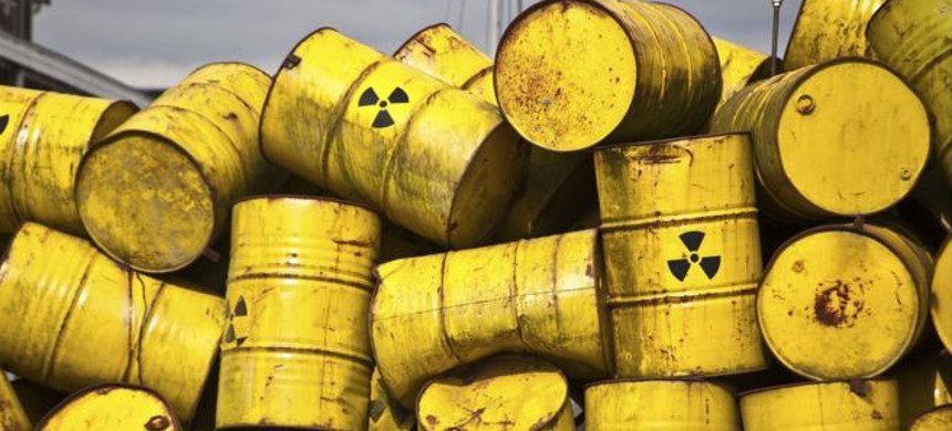Nuclear waste barrels. (photo: iStock)