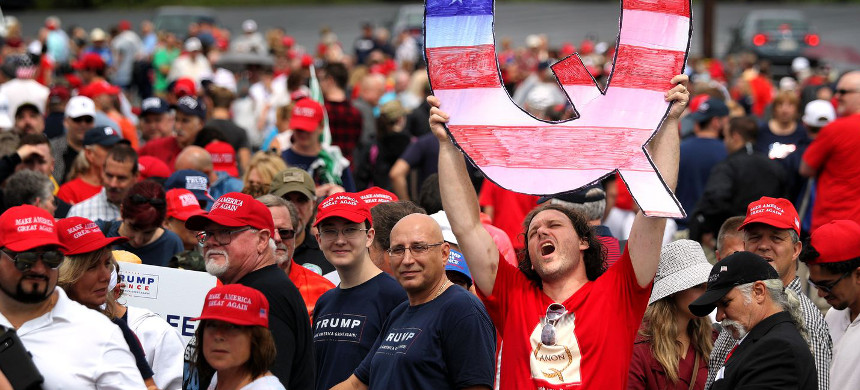 A Make America Great Again rally in Pennsylvania in August 2018. (photo: Rick Loomis/Getty)