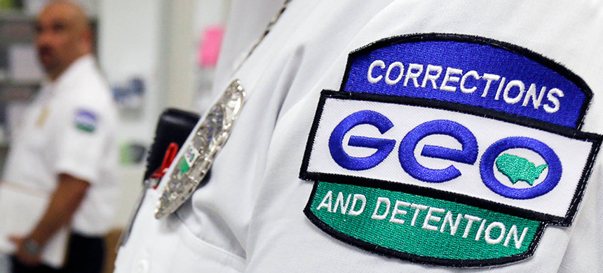 Geo Group correctional officer. (photo: AP)