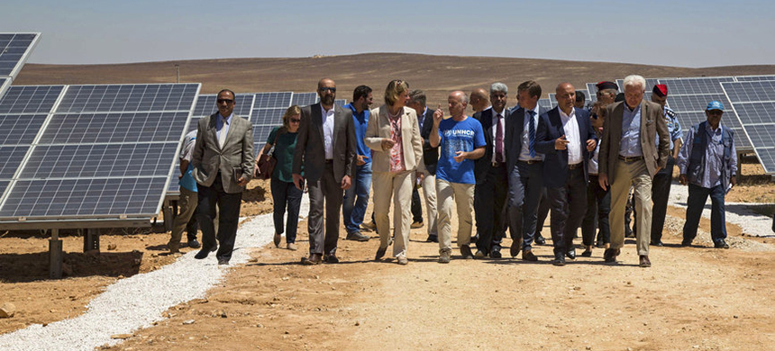 Solar energy plant in Jordan. (photo: AP)