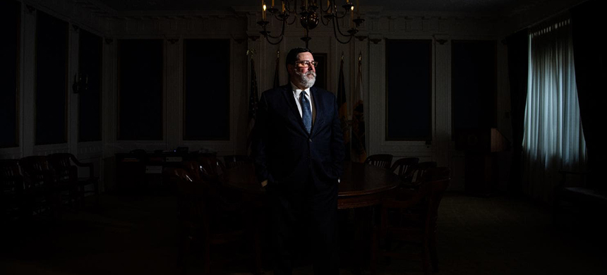 Pittsburgh Mayor Bill Peduto in his Pittsburgh City Hall office on Friday, still at the beginning of what he sees as a