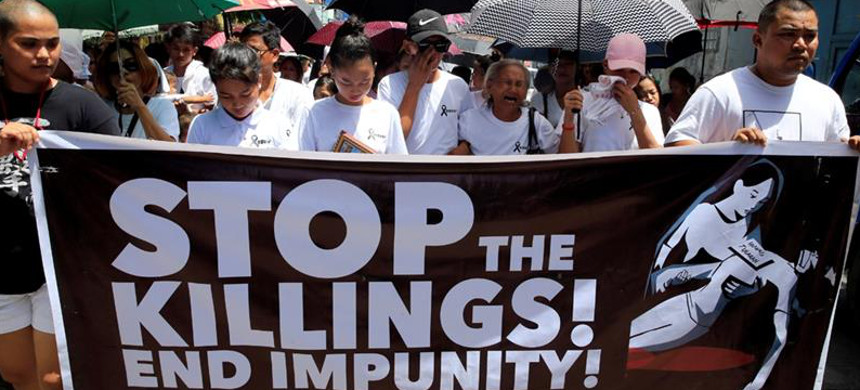 In February, the International Criminal Court said it had taken steps to probe the killings. (photo: Reuters)