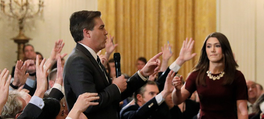 CNN's Jim Acosta. (photo: Jonathan Ernst/Reuters)