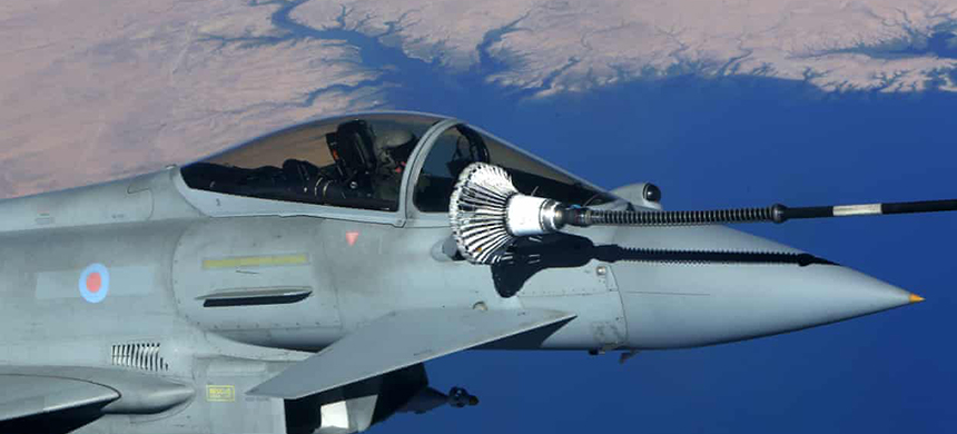 Sales of Typhoon jets to Saudi Arabia are a central part of Britain's trade strategy as it prepares for Brexit. (photo: Petros Karadjias/AFP/Getty Images)