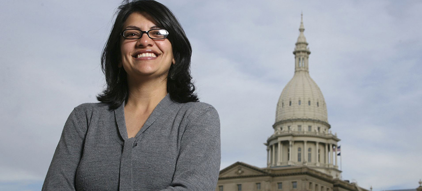 Representative Rashida Tlaib of Michigan. (photo: Al Goldis/AP)