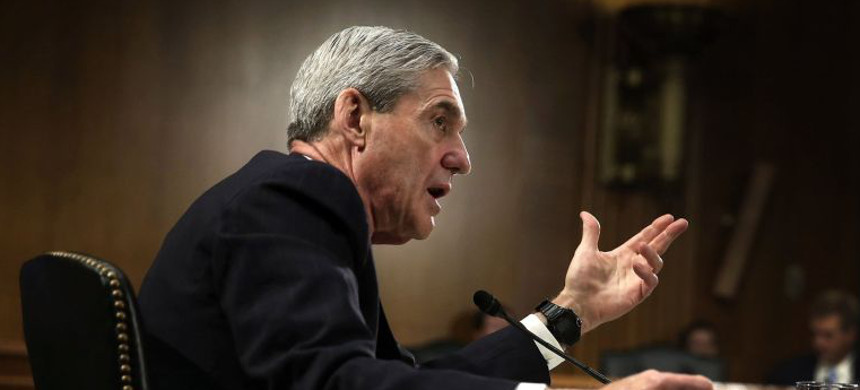 Special counsel Robert Mueller took the investigation of Russian election meddling and possible links with the Trump campaign and continues on the exact same track. Above, Mueller testifies on Capitol Hill in 2013, when he was director of the FBI. (photo: Alex Wong/Getty)