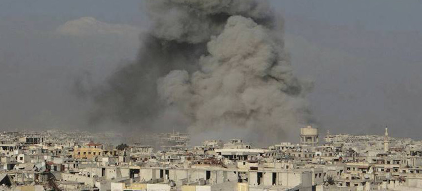 US airstrike in Syria. (photo: AFP)