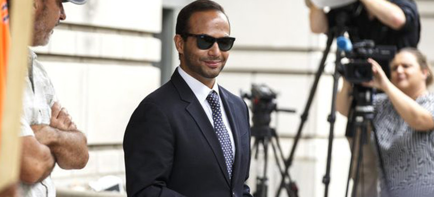 George Papadopoulos, former campaign adviser for U.S. president Donald Trump. (photo: Joshua Roberta/Bloomberg)
