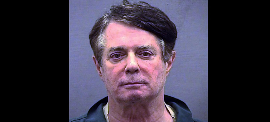 Paul Manafort's mug shot, released by the Alexandria Sheriff's Office. (photo: Alexandria Sheriff's Office)