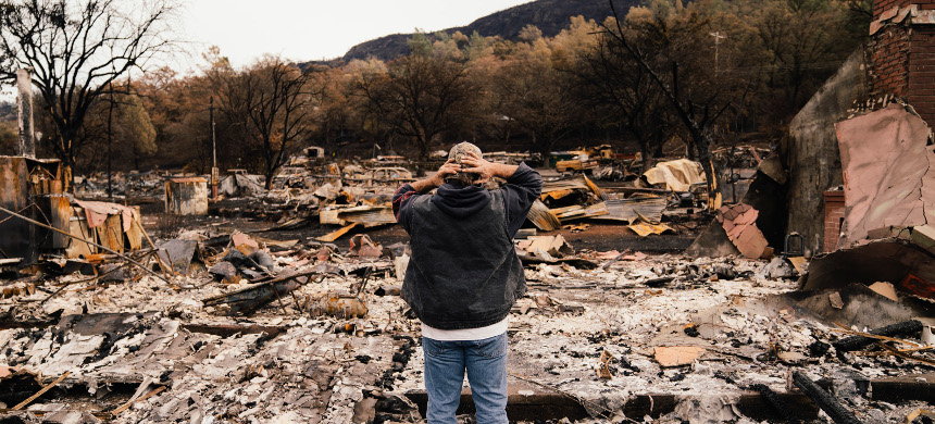 Wildfires destroyed a large area of California. (photo: Olga R. Rodriguez/AP)