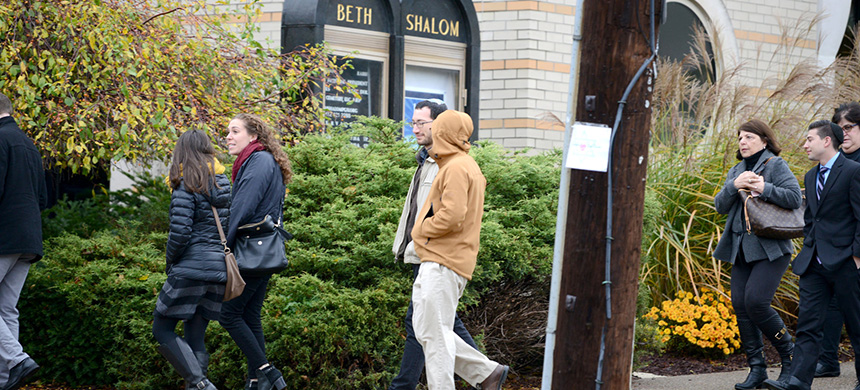At Congregation Beth Shalom in Pittsburgh, families across the Jewish community will gather at the annual 'Latkepalooza' to mark their first Hanukkuh since the shooting at the Tree of Life synagogue in October. (photo: Alan Freed/Reuters)