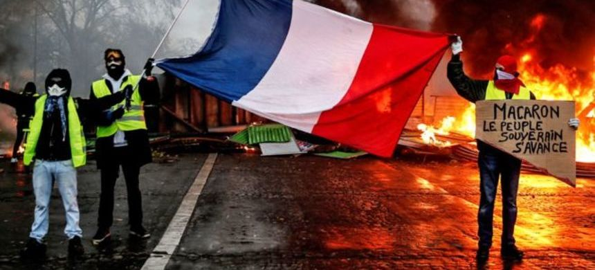 For the better part of three weeks, protesters - clad in high-visibility yellow vests - took to the streets across France. (photo: AFP)