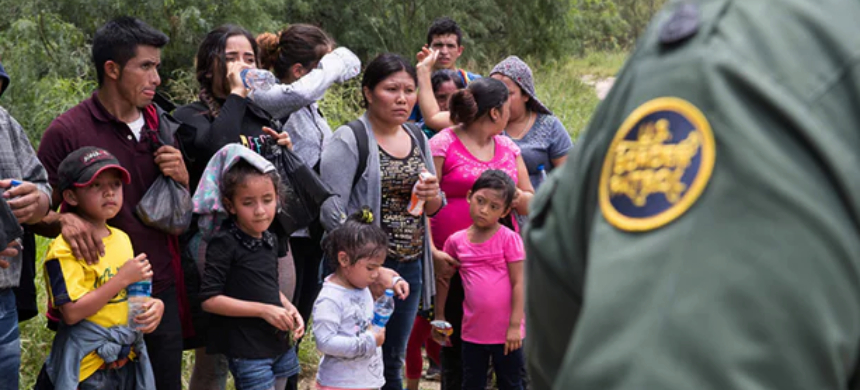 A group of migrant families are intercepted by Border Patrol near McAllen, Texas. (photo: CallerTimes/Shutterstock)