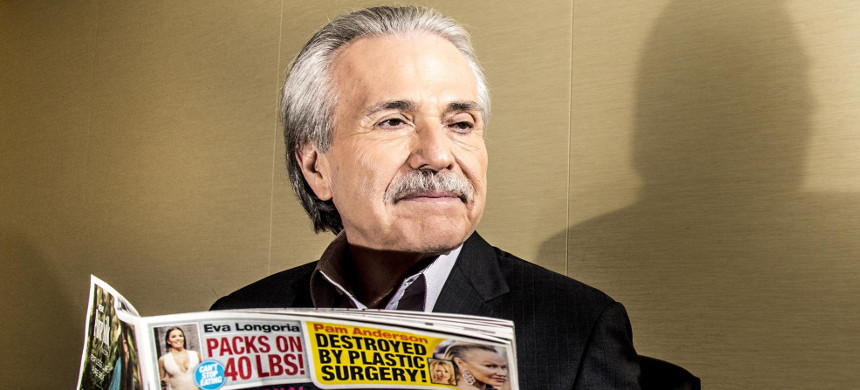 David J. Pecker, chairman and CEO of American Media, publisher of National Enquirer and others, at the company's headquarters in lower Manhattan in June 2017. (photo: Mark Peterson/Redux)