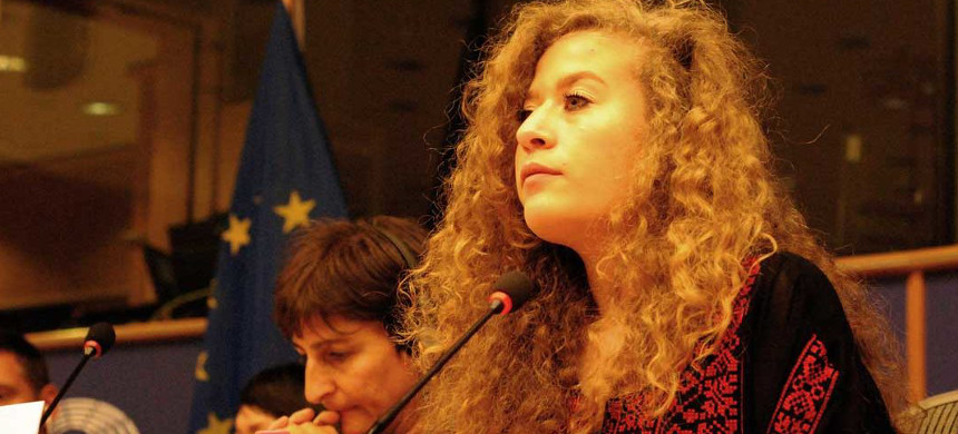 Palestinian activist Ahed Tamimi. (photo: AFP)