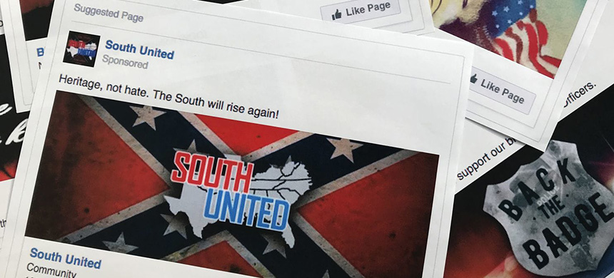 Some of the Facebook ads linked to a Russian effort to disrupt the American political process and stir up tensions around divisive social issues. (photo: Jon Elswick/AP)