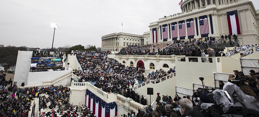 President Donald Trump's inauguration in Washington on Jan. 20, 2017. (photo: Samuel Corum/Anadolu Agency/Getty Images)