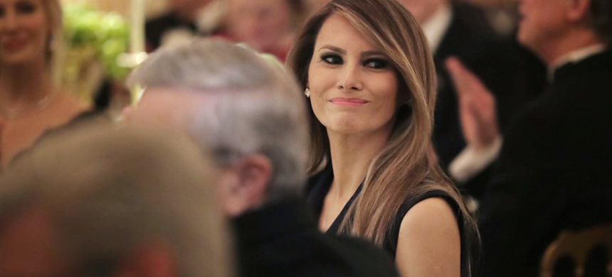 Melania Trump attends charity dinner at Mar-a-Lago. (photo: unknown)