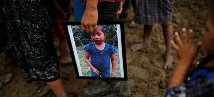 Jakelin Caal, a seven-year-old Guatemalan girl, died less than two days after being apprehended by the border patrol. (photo: Carlos Barría/Reuters)