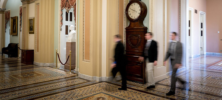 The Capitol was nearly empty last week amid stalled negotiations between the White House and Democrats in Congress on reopening the federal government. (photo: Erin Schaff/NYT)