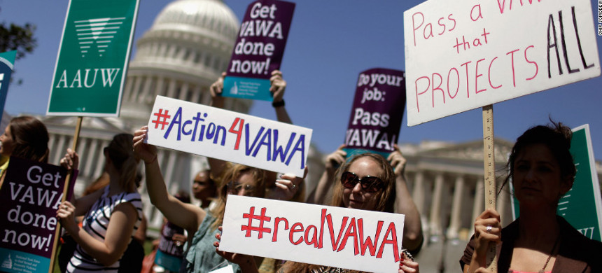 Supporters of the Violence Against Women Act. (photo: Getty)