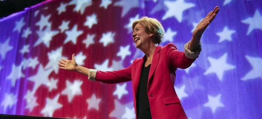 Elizabeth Warren. (photo: Aram Boghosian/The Boston Globe)