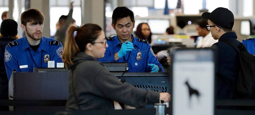 TSA workers. (photo: Nam Y. Huh)