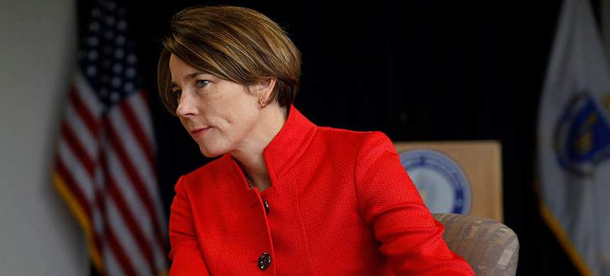 Massachusetts attorney general Maura Healey is investigating whether Exxon misled the public and investors about climate change. (photo: Jessica Rinaldi/Getty)