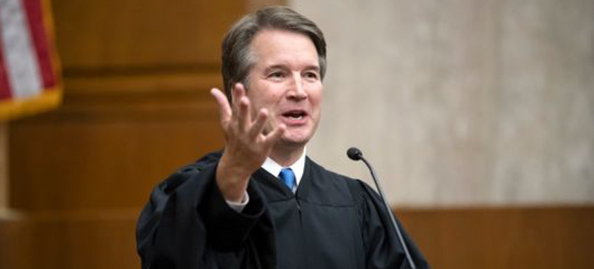 Supreme Court Associate Justice Brett Kavanaugh issued his first opinion Tuesday in an obscure arbitration case. (photo: J. Scott Applewhite/AP)