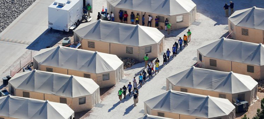 Tent city in Tornillo, Texas. (photo: Getty)