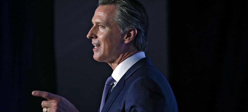 California governor Gavin Newsom. (photo: Elijah Nouvelage/EPA)