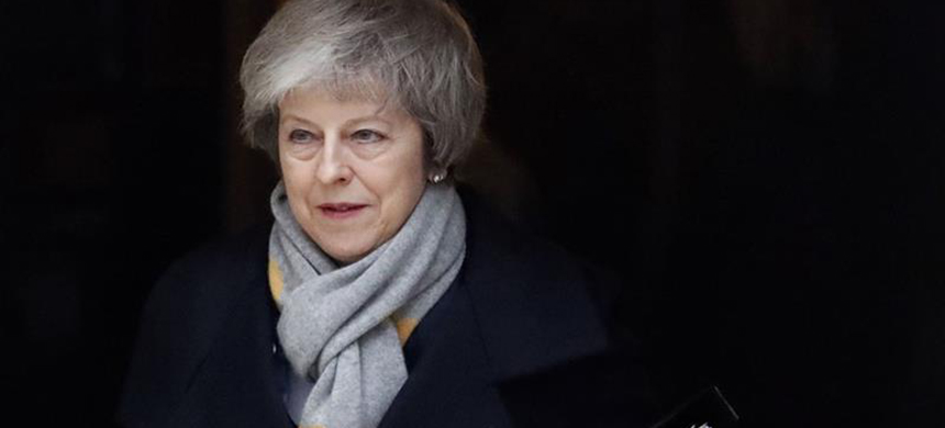 Theresa May's deal was voted down by a massive majority of 230 MPs. (photo: Frank Augstein/AP)