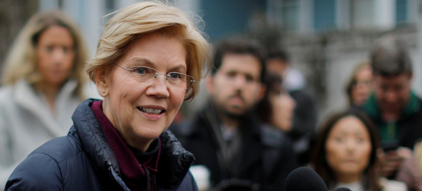 Senator Elizabeth Warren. (photo: Getty)