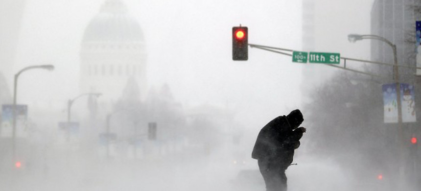 Polar vortex descends on the Midwest. (photo: Getty)