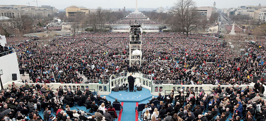 Trump's inauguration. (photo: Scott Olson/Getty Images)