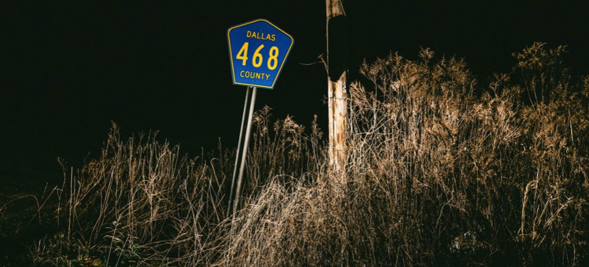 County Road 468 outside Selma, Alabama, where Tiffany Harville's body was found in 1995. (photo: William Widmer/ProPublica)