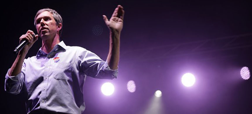 Beto O'Rourke will headline a rally on Monday in El Paso at the same time President Trump is set to hold a rally in that city. (photo: Getty Images)
