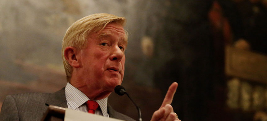 Former Massachusetts governor Bill Weld announced he is launching an exploratory committee to decide whether he will challenge President Trump for the Republican nomination. (photo: Craig F. Walker/Boston Globe/Getty Images)