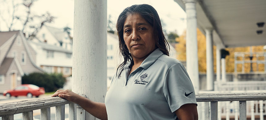 Victorina Morales, an undocumented immigrant who spoke about working on the housekeeping staff for the Trump National Golf Club. (photo: Christopher Gregory/NYT)