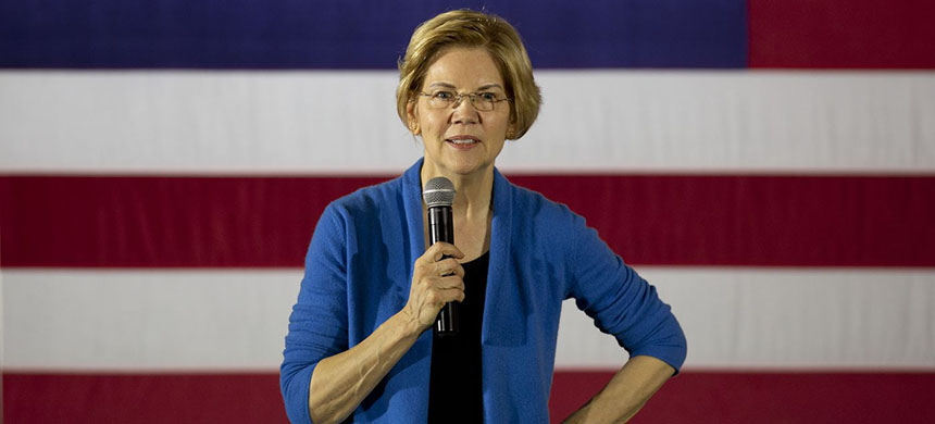 Elizabeth Warren. (photo: Daniel Acker/Bloomberg)