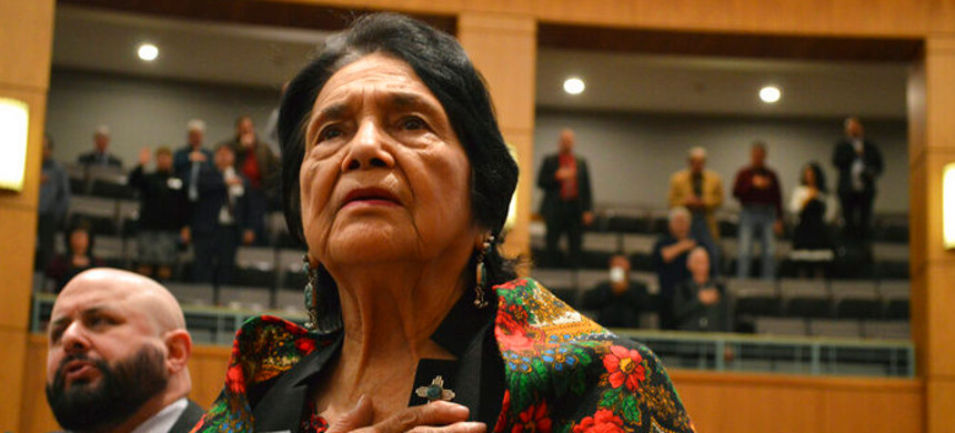Civil rights leader Dolores Huerta. (photo: Russell Contreras/AP)