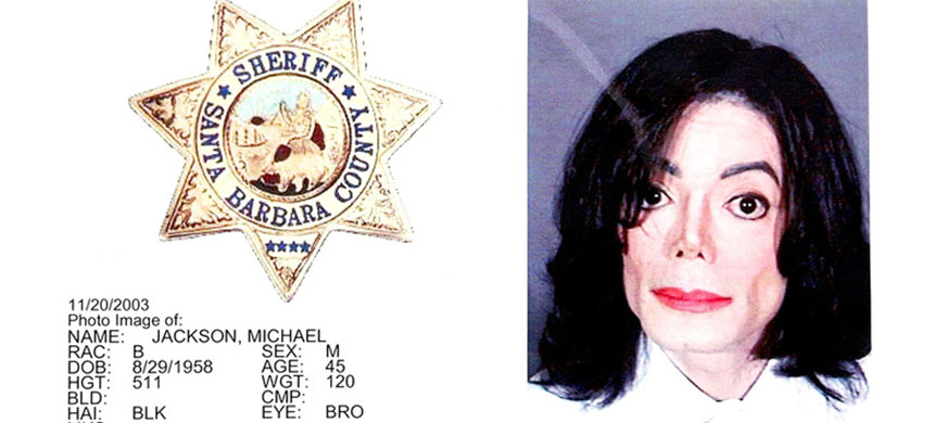Michael Jackson's 2003 mugshot. (photo: Robyn Beck/AFP/Getty Images)